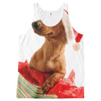 Dackel Sankt - Sankt-Hund - verfolgen Geschenke Komplett Bedrucktes Tanktop
