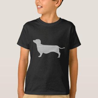 Dackel-Silhouette von vielen T-Shirt