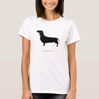 Dackel-T - Shirt (schwarze glatte Version 1)