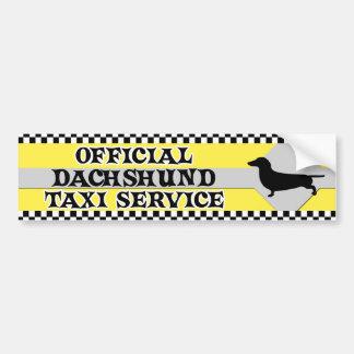 Dackel-Taxi-Service-Autoaufkleber