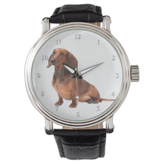 Dackel-Uhr Armbanduhr