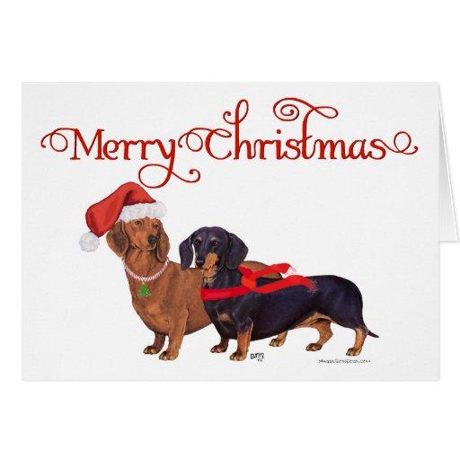 Dackel-Weihnachten Grußkarten