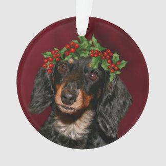 Dackel-Weihnachten Ornament