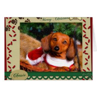 Dackel-Weihnachtskarte Karte