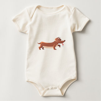 Dackel Wursthund Baby Strampler