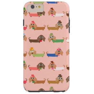Dackeln auf Rosa Tough iPhone 6 Plus Hülle