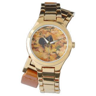 Dackelwelpe Uhr