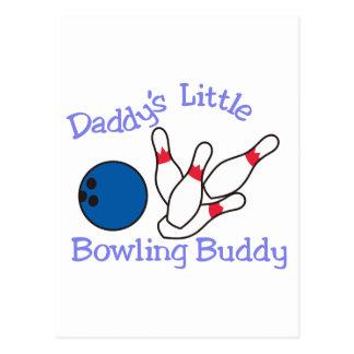 Daddys Bowlings-Freund Postkarte