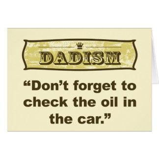 Dadism- vergessen nicht zum Karo das Öl! Karte