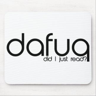 Dafuq tat ich las gerade? Mousepad. Mousepad