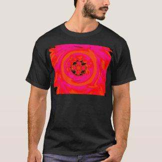 Dahlie abstrakt, orange, Rosa T-Shirt