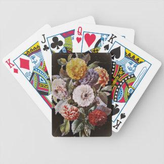 Dahlie-antiker Blumenstrauß Bicycle Spielkarten