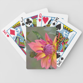 Dahlie-Blume Bicycle Spielkarten