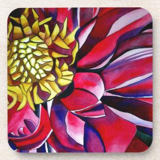 Dahlie-Blume ursprüngliche abstrakte Untersetzer