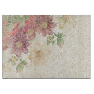 Dahlie-Blumen-botanisches Blumenausschnitt-Brett Schneidebrett