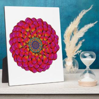 Dahlie-Blumen-endloses Auge abstrakt Fotoplatte