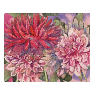 Dahlie-Blumen Puzzle