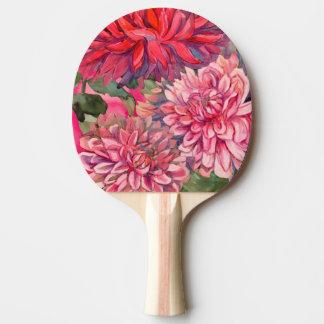 Dahlie-Blumen Tischtennis Schläger