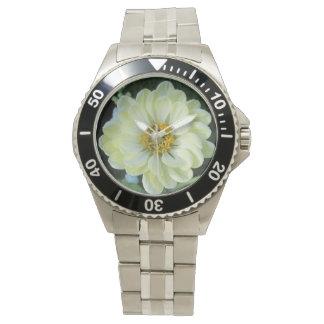 Dahlie-hellgelbe Blume Armbanduhr
