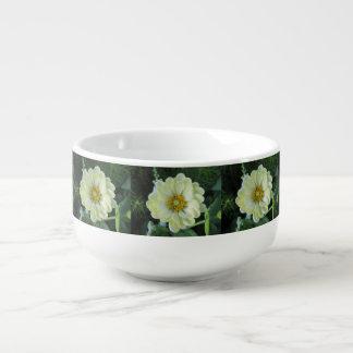 Dahlie-hellgelbe Blume Große Suppentasse