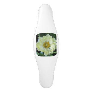 Dahlie-hellgelbe Blume Keramik Schrankknauf