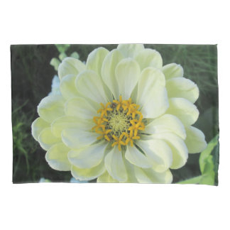 Dahlie-hellgelbe Blume Kissenbezug