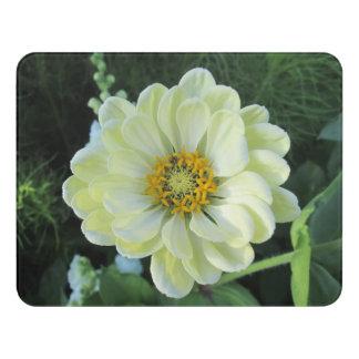 Dahlie-hellgelbe Blume Türschild
