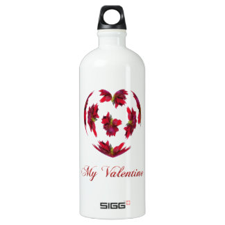 Dahlie-Herz Wasserflasche