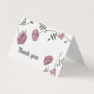 Dahlie-Hochzeit danken Ihnen Karten Karte