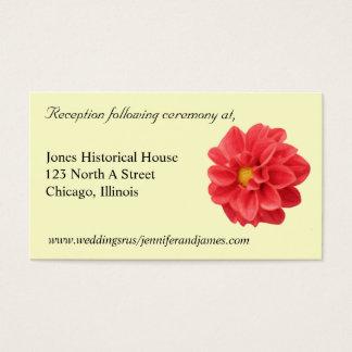 Dahlie-Hochzeitseinschließungskarten Visitenkarte