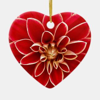 Dahlie Keramik Herz-Ornament