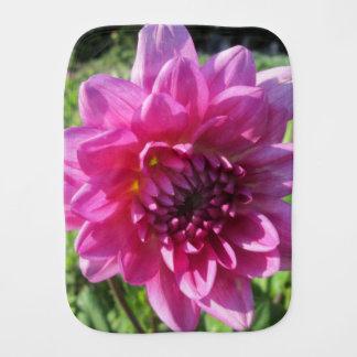 Dahlie-lila Blume mit Blumen Baby Spucktuch