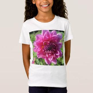 Dahlie-lila Blume mit Blumen T-Shirt