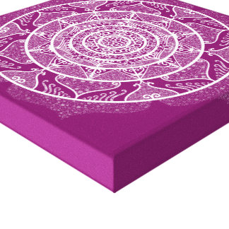 Dahlie-Mandala Leinwanddruck