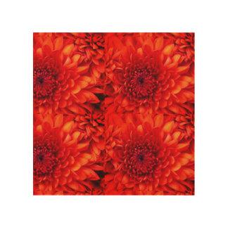 Dahlie-rote Blumen vom Garten Holzleinwand