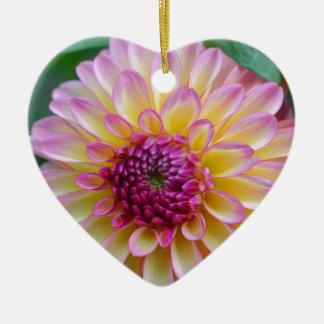 Dahlie-Schönheit Keramik Herz-Ornament