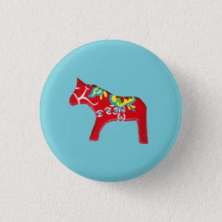Dala Pferd Runder Button 3,2 Cm