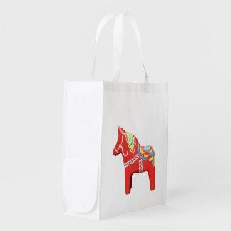 Dala Pferdefaltende Einkaufstüte Wiederverwendbare Einkaufstasche