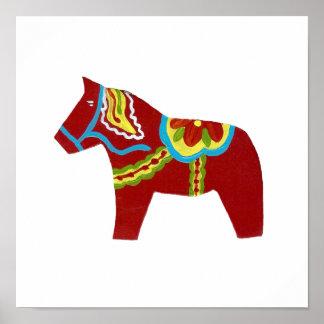 Dala Pferdeplakat Poster