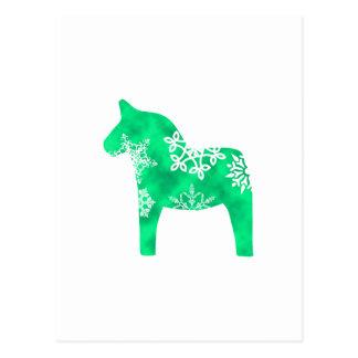 Dala Pferdeschneeflocke Postkarte