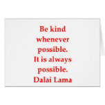 Dalai- Lamazitate Grußkarten