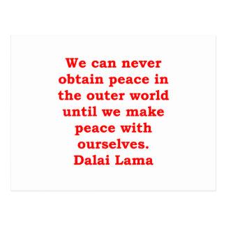 Dalai- Lamazitate Postkarte