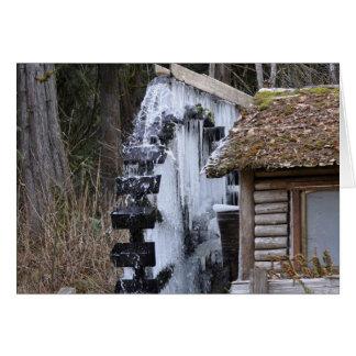 Dalby Waterwheel eingefroren Karte