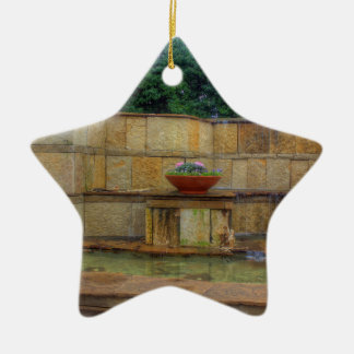 Dallas-Arboretum und botanische Garten-Eingang Keramik Stern-Ornament