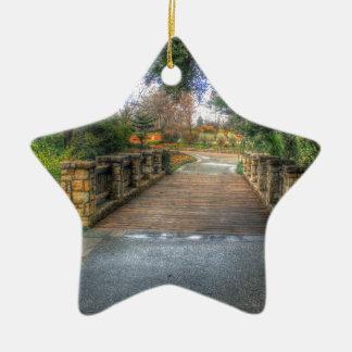 Dallas-Arboretum und botanischer Garten Keramik Stern-Ornament