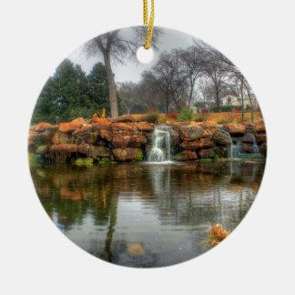 Dallas-Arboretum und botanischer Garten Rundes Keramik Ornament