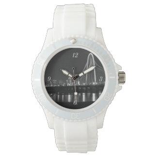 Dallas-Brücken-AnsichtGrayscale Armbanduhr