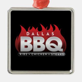 Dallas-GRILLEN erstklassige quadratische Silbernes Ornament
