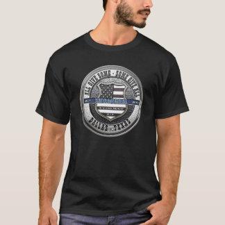 Dallas-Polizei-dünnes Erinnerungsblau T-Shirt