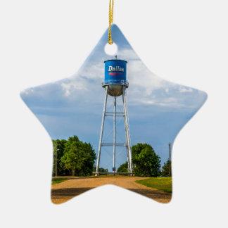 Dallas, Sd-Wasserturm u. Museum Keramik Stern-Ornament